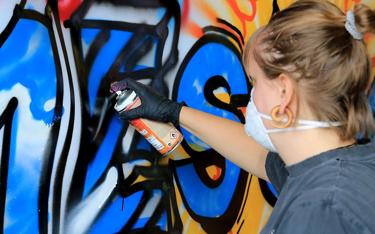 Holtmann auszubildende graffiti aktion 04
