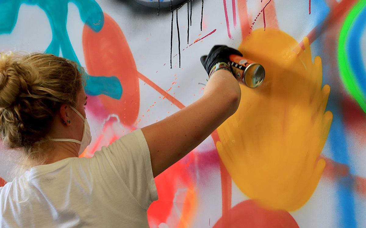 Holtmann auszubildende graffiti aktion 05