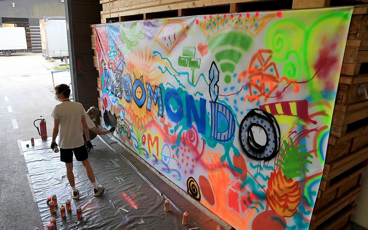 Holtmann auszubildende graffiti aktion 07
