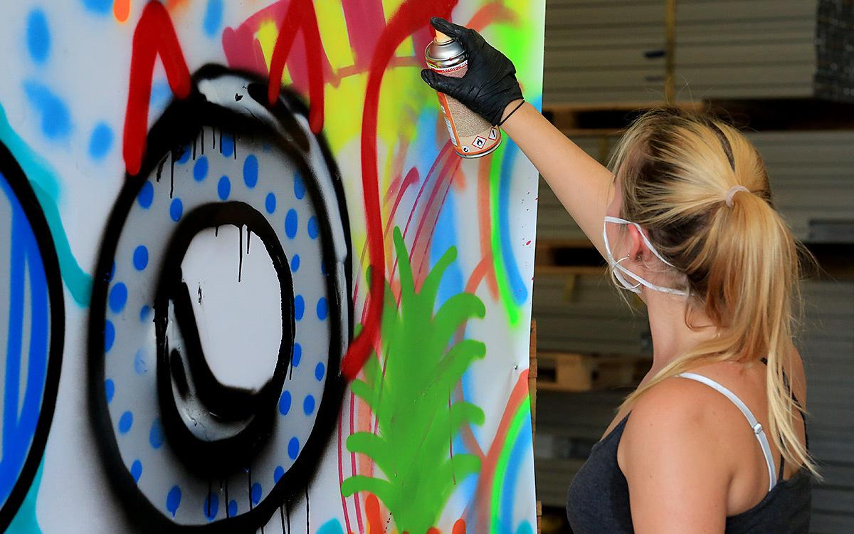 Holtmann auszubildende graffiti aktion 09