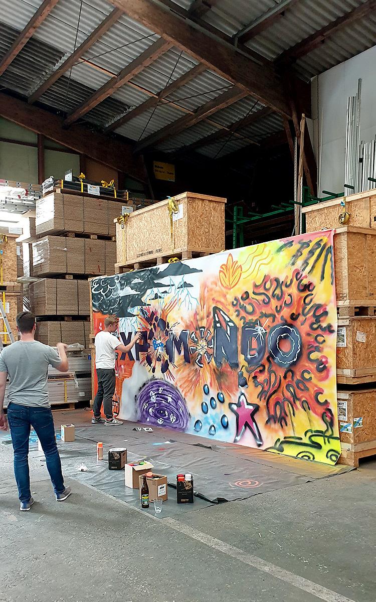 Holtmann auszubildende graffiti aktion 13